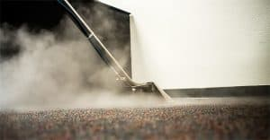 Carpets being steam cleaned
